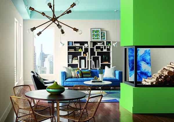 Xu hướng màu sắc trong thiết kế nội thất sẽ lên ngôi trong năm 2018
