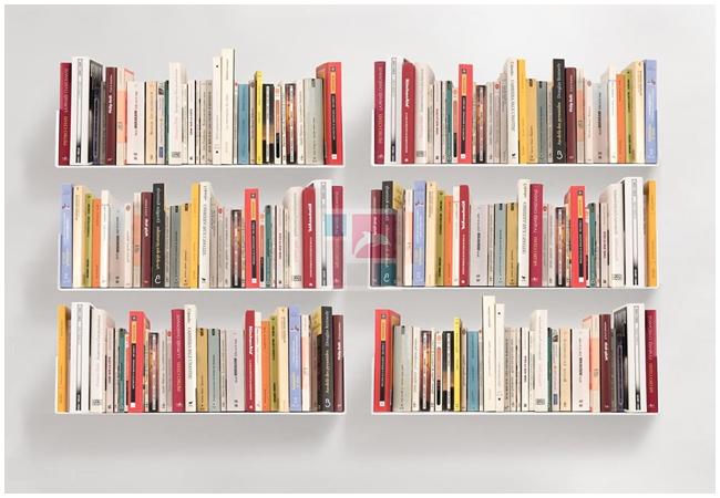 Dùng kệ sách đứng làm vách ngăn – giải pháp phân chia không gian tuyệt vời
