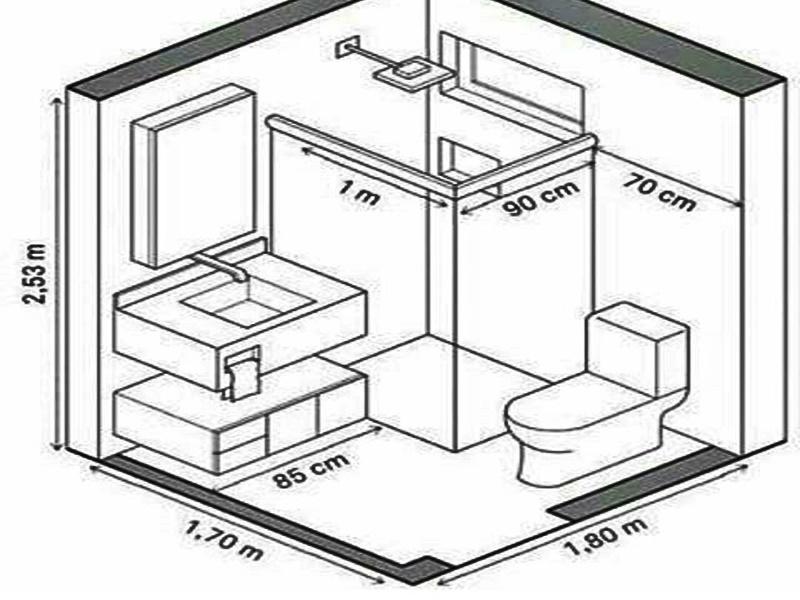 Kích thước nhà vệ sinh tiêu chuẩn của các khu nhà dân