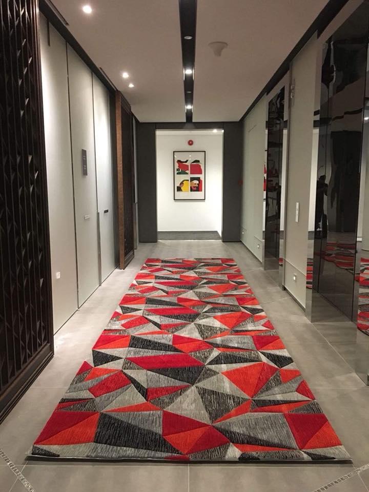 Nghệ thuật thảm trải hành lang công trình khách sạn