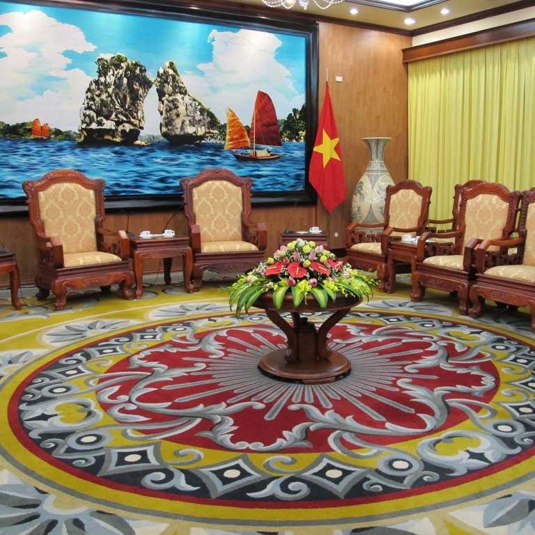 Nét đẹp mang tính đặc trưng trên thảm dệt tay Việt Nam