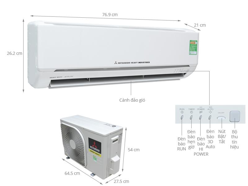 Dòng máy lạnh mitsubishi heavy  mang đến sự tiện nghi cho ngôi nhà của bạn