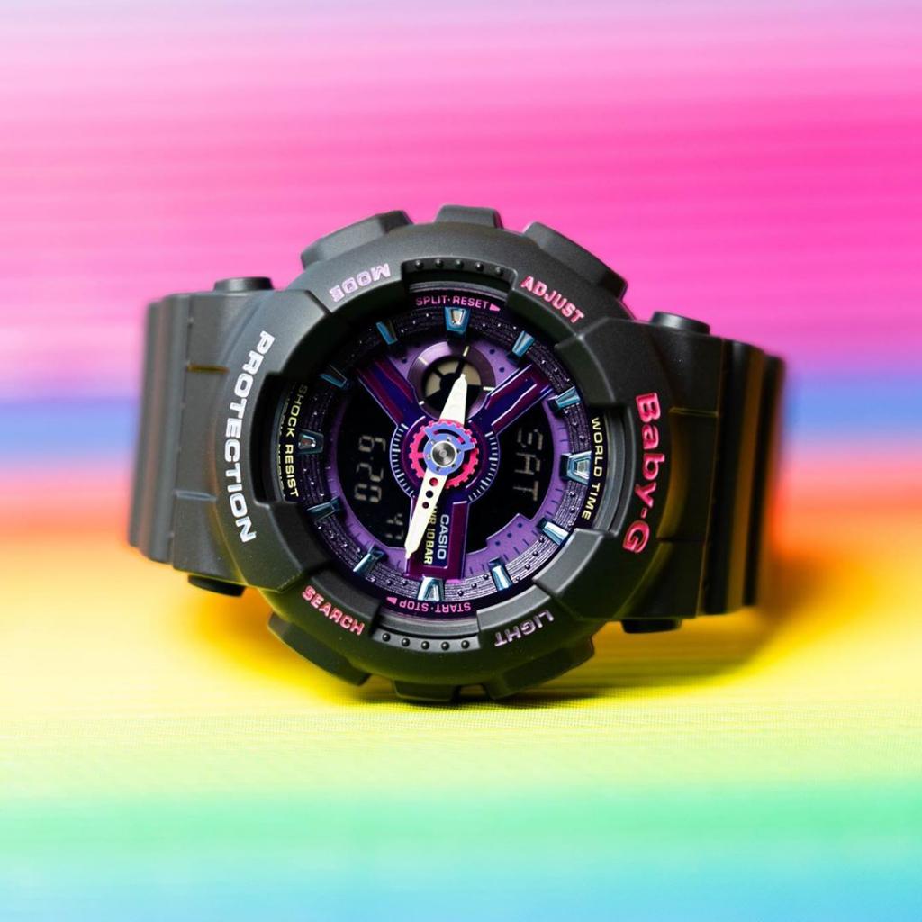 Khám phá sức hút đặc biệt từ mẫu   đồng hồ thể thao nữ Casio BA-110TM-1ADR